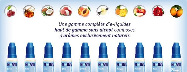 Game d'e-liquide Nova