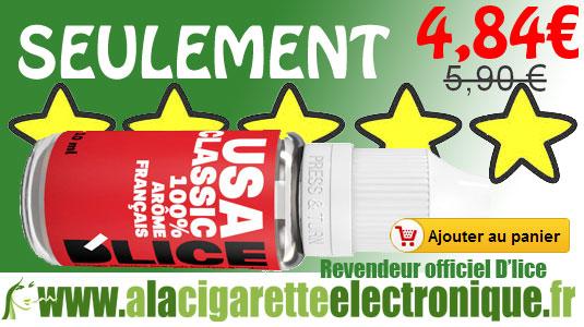 E-liquide Dlice USA Classic au meilleur prix