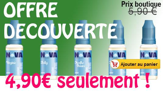 Promo réduction prix e-liquide Nova