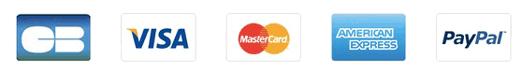 Moyens de paiement CB Visa PayPal