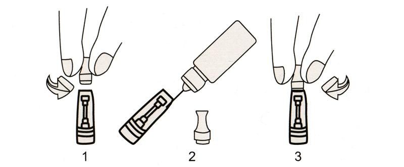 Comment remplir cigarette électronique CE4